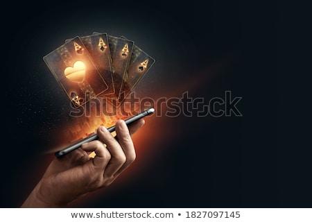 Szerencsejátékos üveg kaszinó póker stúdió alkohol Stock fotó © amok
