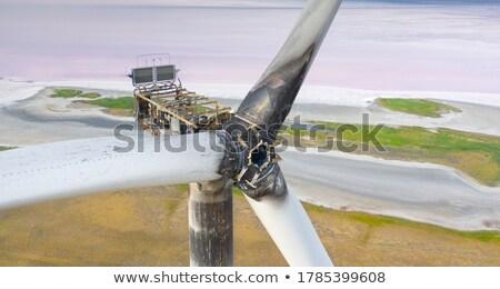 Turbine construction industrielle machine gaz moteur Photo stock © ddvs71