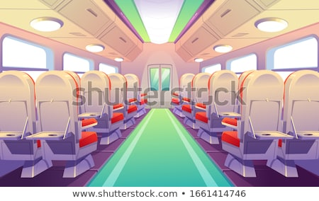 Passenger train interior with empty eats Stock photo © stevanovicigor