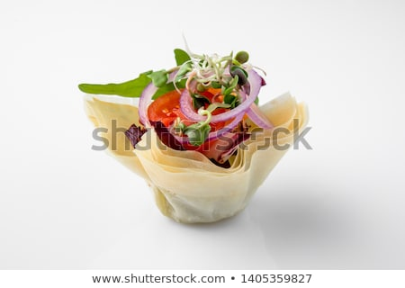 Bufet żywności jadalnia krem uroczystości łososia Zdjęcia stock © M-studio