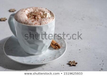 stilleven · koffie · slagroom · chocolade · beker · object - stockfoto © stephaniefrey