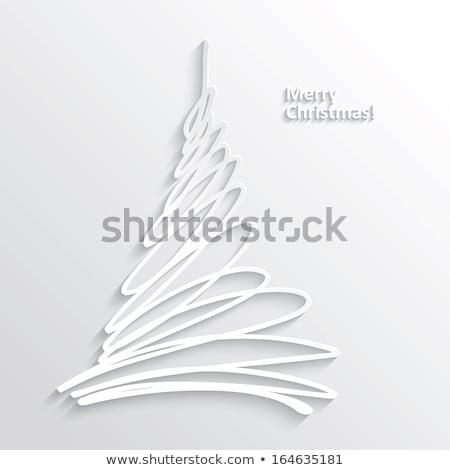 christmas tree with frozen pattern Stock photo © heliburcka