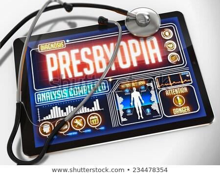 tabletta · diagnózis · zöldhályog · kirakat · számítógép · orvos - stock fotó © tashatuvango