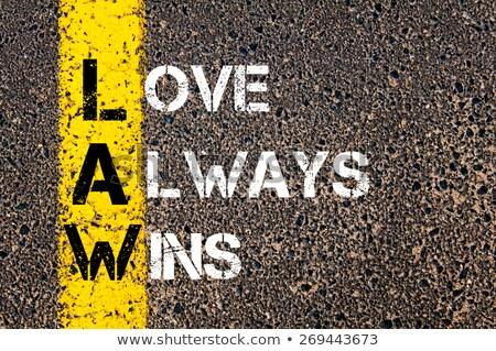 Lei amor sempre mão escrita branco Foto stock © ivelin