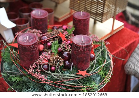 New Year's and Christmas interior in pink color 4 Stock photo © Lenanichizhenova