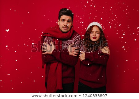 Glad young couple before the party Stock photo © majdansky