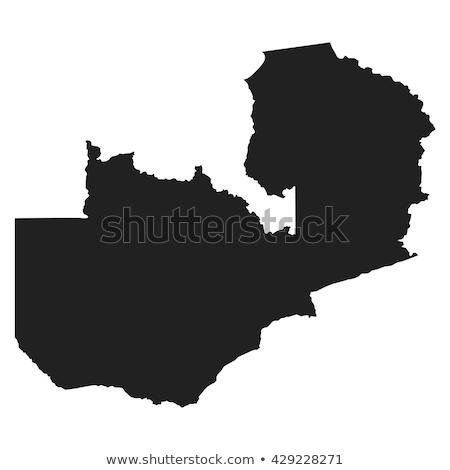 térkép · Zambia · terv · világ · Afrika · sziluett - stock fotó © mayboro1964