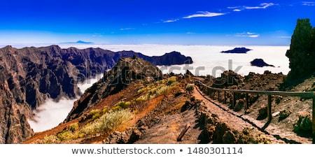 Dağlar manzara volkanik ada yürüyüş Stok fotoğraf © blasbike