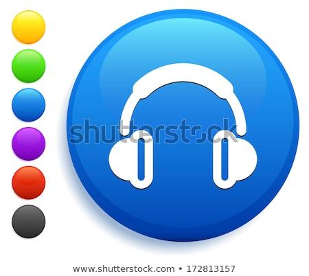 голову · телефон · Purple · вектора · икона · кнопки - Сток-фото © rizwanali3d