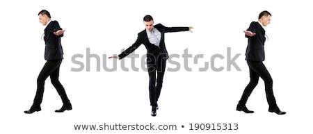 üzletember sétál láthatatlan kötél különböző irányok Stock fotó © deandrobot