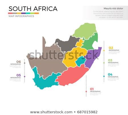 kaart · vlag · South · Africa · business · weg · witte - stockfoto © mayboro1964