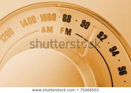 antik · rádió · klasszikus · háttér · zene · fa - stock fotó © nito