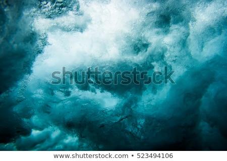 dalga · plaj · büyük · gökyüzü · okyanus · yeşil - stok fotoğraf © chrisvanlennepphoto