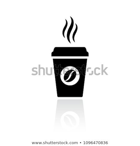 simple · icône · tasse · de · café · papier · café · design - photo stock © tkacchuk