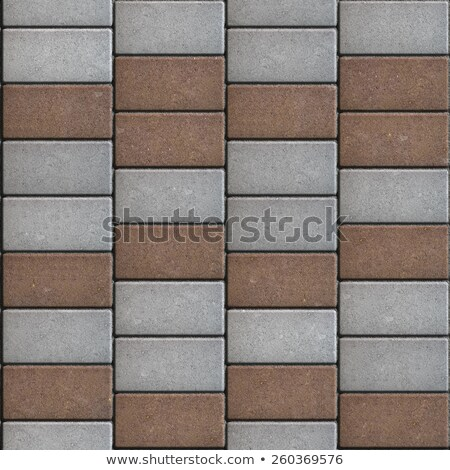 Paving Consisting of  Rectangles Laid Out in a Chaotic Manner. Stock photo © tashatuvango