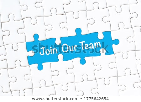 career   white word on blue puzzles stock photo © tashatuvango