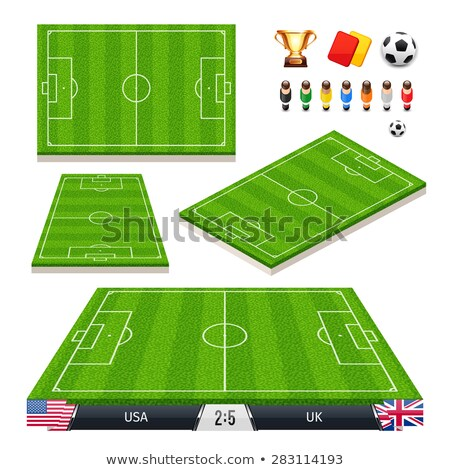 vector illustration set of soccer fields in four different positions stock photo © voysla