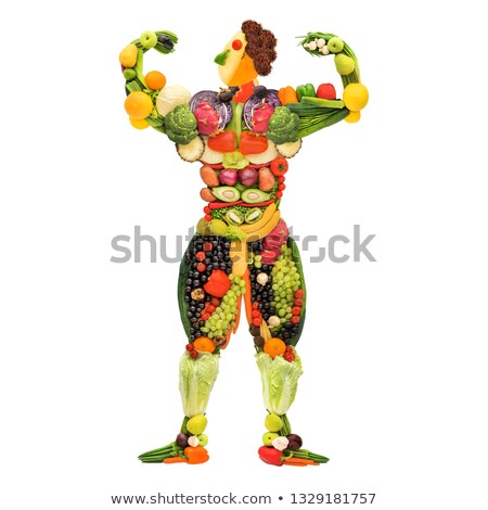 Muscular man posing with nutritional supplement Stock photo © wavebreak_media