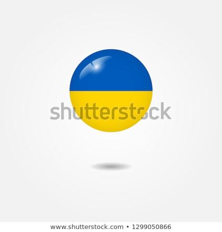 Sticker vlag Oekraïne geïsoleerd witte reizen Stockfoto © MikhailMishchenko