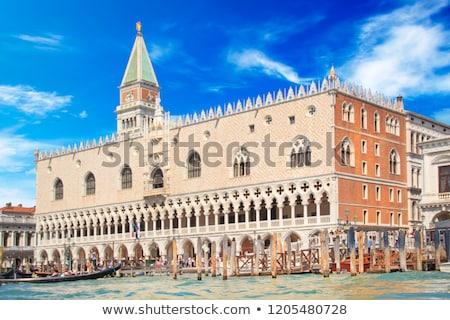 gondolas and doge palace venice italy stock photo © neirfy