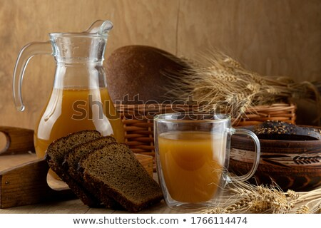 Yaz çorba hizmet tablo malzemeler gıda Stok fotoğraf © bendzhik