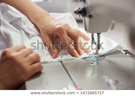 женщины стороны швейные машины портрет бизнеса Сток-фото © deandrobot