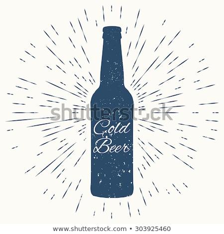 冷たい ビール ヒップスター ヴィンテージ ラベル 優れた ストックフォト © netkov1