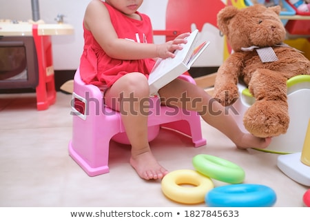 girl learning to use the potty Stock photo © adrenalina