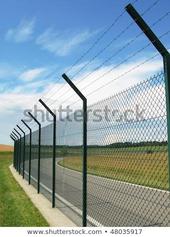 Stockfoto: Fence Around Restricted Area