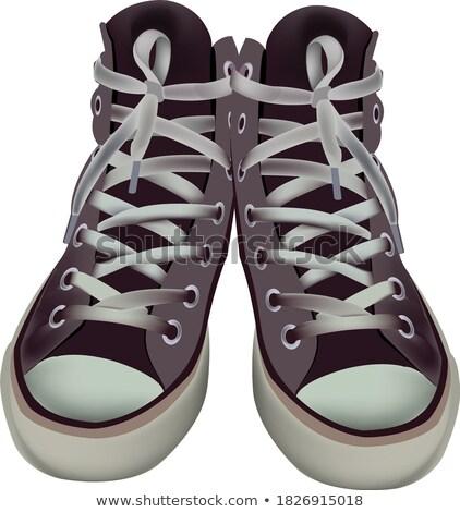 Abandoned pair of children's sandals Stock photo © bezikus