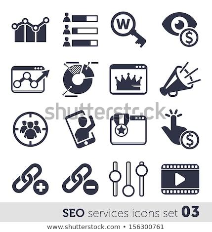 бизнеса · аналитика · красочный · иконки · большой · данные - Сток-фото © genestro