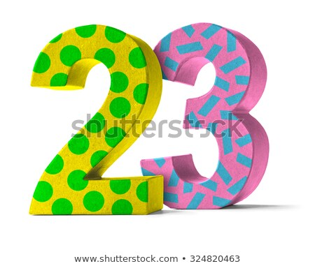Colorful Paper Mache Number on a white background  - Number 23 Stock photo © Zerbor