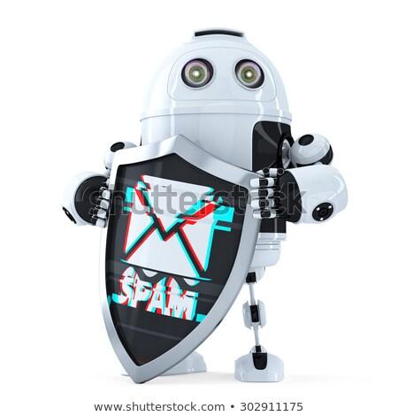 robot · kalkan · telif · hakkı · simge · yalıtılmış - stok fotoğraf © kirill_m