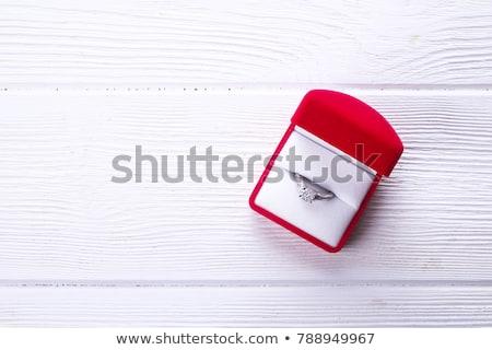 Vrouw hand ring kostbaar juweel Stockfoto © dolgachov