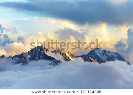 Köd felhők hegyek Alaszka autópálya tájkép Stock fotó © wildnerdpix