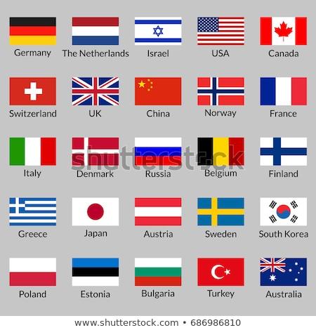 Canada Estland vlaggen puzzel geïsoleerd witte Stockfoto © Istanbul2009