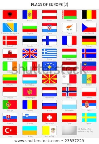 Törökország Gibraltár zászlók puzzle izolált fehér Stock fotó © Istanbul2009
