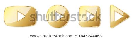 Play golden Vector Icon Design Stock photo © rizwanali3d