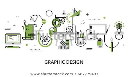 Tools Green Vector Icon Design Stock photo © rizwanali3d
