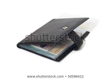 Leder portemonnee geïsoleerd witte business Stockfoto © frescomovie