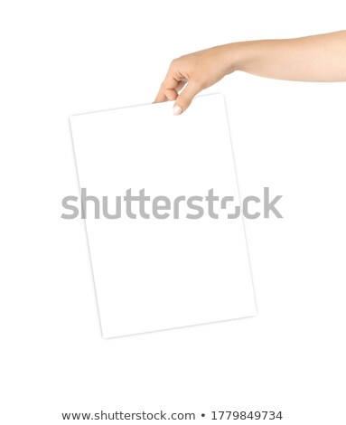 man with card of girl and thumb up, collage stock photo © Paha_L