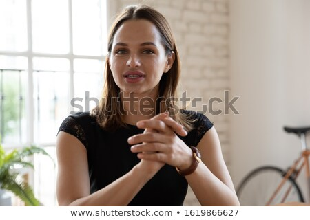 Businesswoman Having A Conversation Stock photo © dash