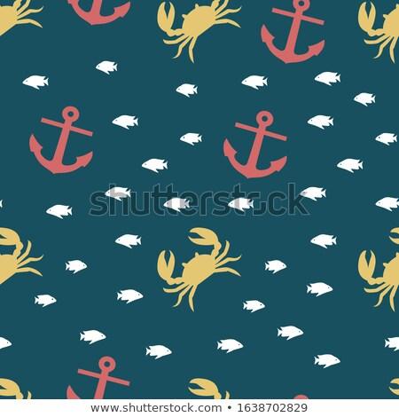 crab on an anchor stock photo © alexbannykh