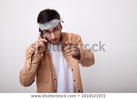 пальца · кадр · улыбаясь · азиатских · деловой · человек - Сток-фото © hsfelix