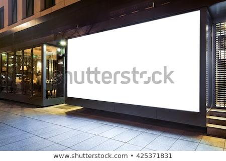 negocios · cartel · mujer · de · negocios · mirando · vacío - foto stock © dash