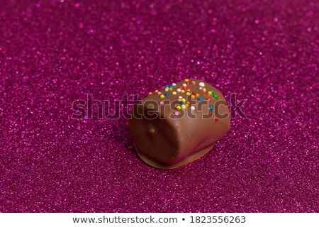 Colorful marshmallow popsicle with candy pearls Stock photo © ozgur