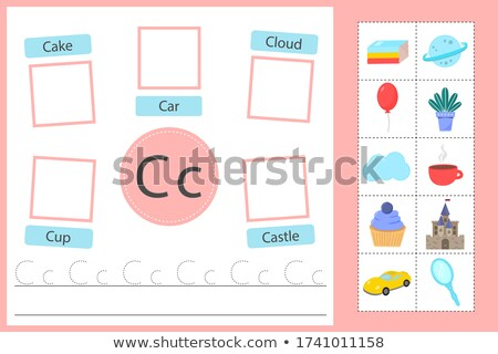 Flashcard letter C is for cake Stock photo © bluering