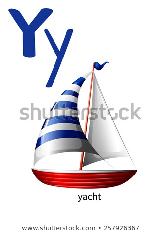 Letter Y for yacht Stock photo © bluering