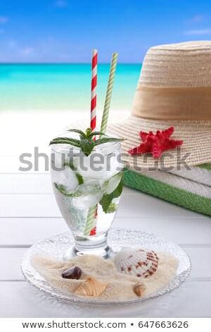 sweet · cocktail · plage · photo - photo stock © lana_m