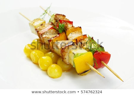 fish skewer with potato side dish stock photo © digifoodstock